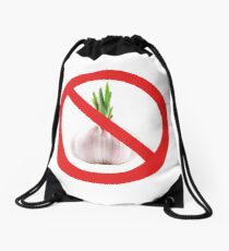 Not stinks of garlic. Drawstring Bag