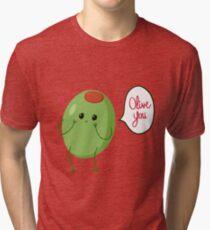 Olive you! #digistickie Tri-blend T-Shirt