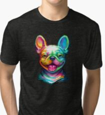 French Bulldog Tri-blend T-Shirt