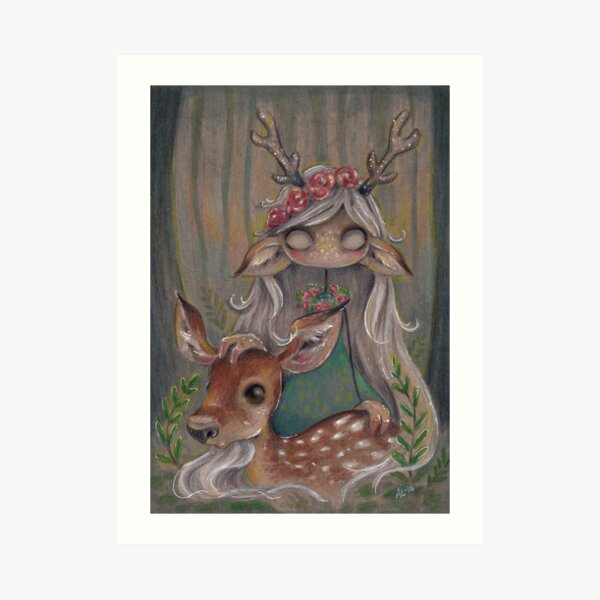 Queen of the forest Art Print