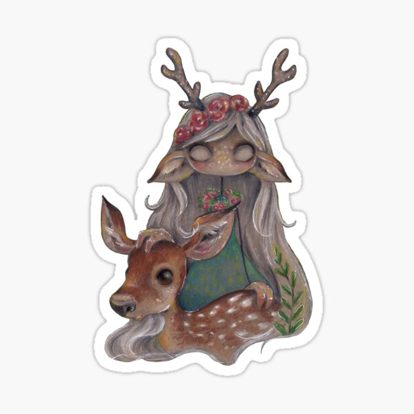 Queen of the forest Sticker