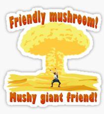 Friendly mushroom Q Sticker