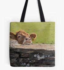 Cow Peek Tote Bag