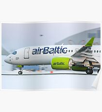 AirBaltic Bombardier CS300 Poster