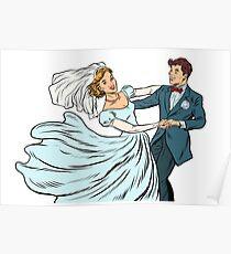 Wedding dance bride and groom Poster