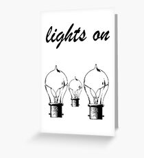 lights on shawn mendes black Greeting Card