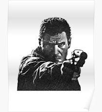 Deckard (Blade Runner) - Cross Hatched Sketch Poster