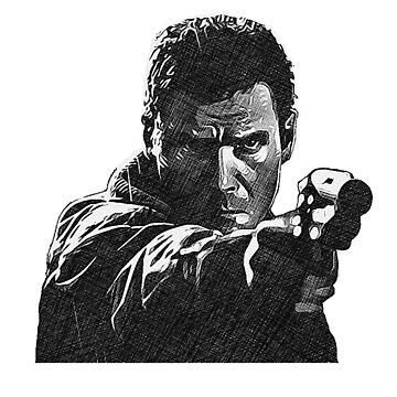 Deckard (Blade Runner) - Cross Hatched Sketch by incredthreads