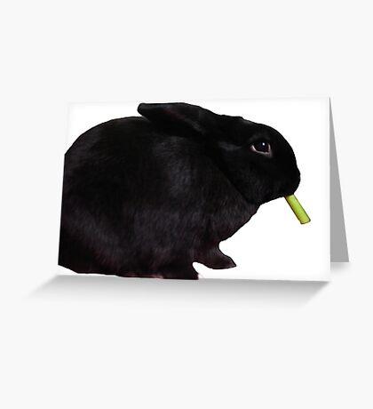 Smoking Smudge profile Greeting Card