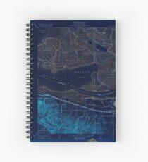 USGS TOPO Map California CA Honker Bay 296168 1918 31680 geo Inverted Spiral Notebook