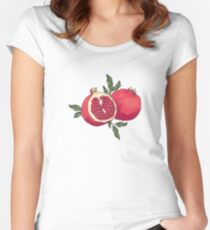 Juicy pomegranate fruits Women's Fitted Scoop T-Shirt