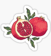 Juicy pomegranate fruits Sticker