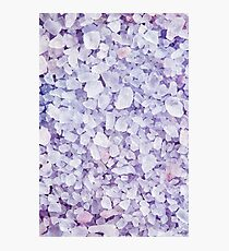 Sea salt for beauty treatment with lavender Photographic Print