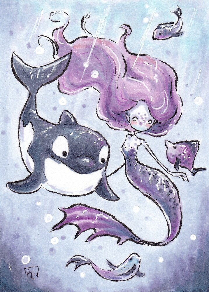 Orca playtime by Annika Landberg