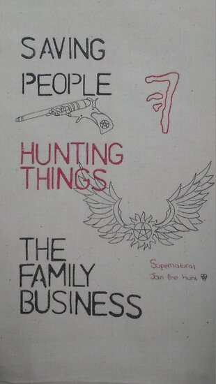 Saving People Hunting Things The Family Business Posters By
