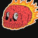 Flaming Skull by wolfmaskart
