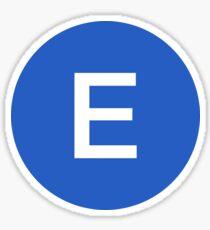 E Train Official Subway Logo Sticker