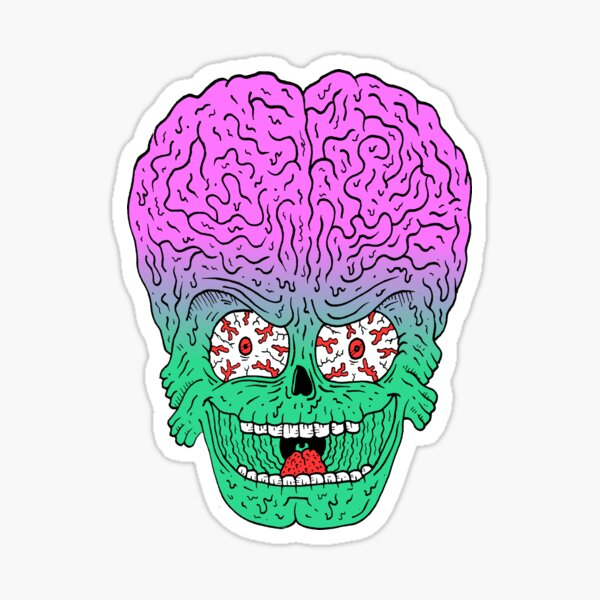 Mars Attacks! Ack! Sticker