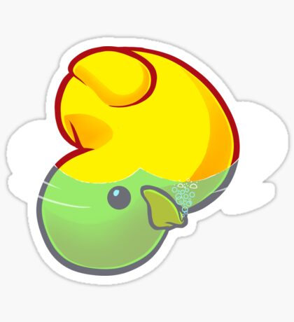 Drowning Rubber Ducky Sticker