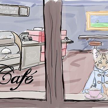 Cat in Cafe by MandyEych