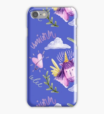 Cute watercolor unicorns iPhone Case/Skin