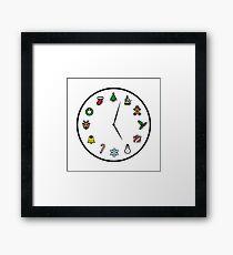 Christmas O'Clock - Time for Xmas Framed Print
