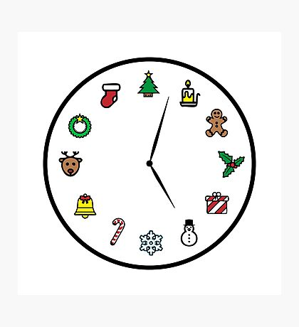 Christmas O'Clock - Time for Xmas Photographic Print