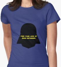 DARTH'S BEER MISSION Womens Fitted T-Shirt