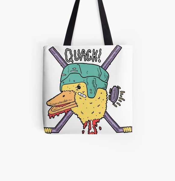 Mighty Duck All Over Print Tote Bag