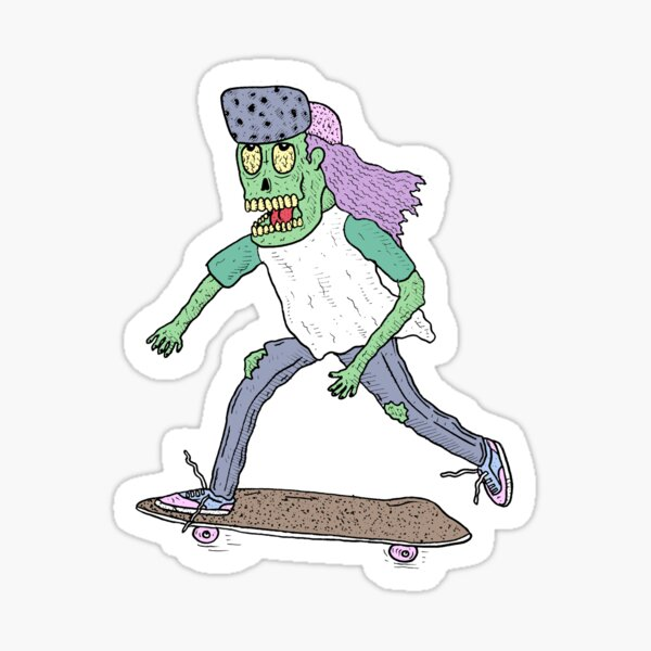 Skate 'n Die! Sticker
