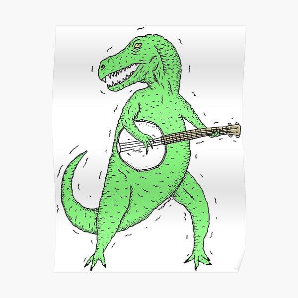 Dino Banjo Poster