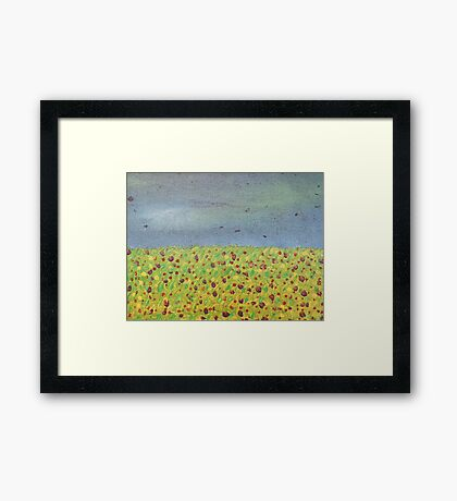 Meadow At Dusk Framed Print