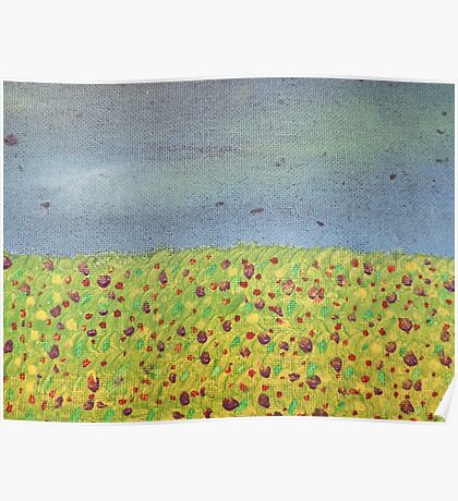 Meadow At Dusk Poster