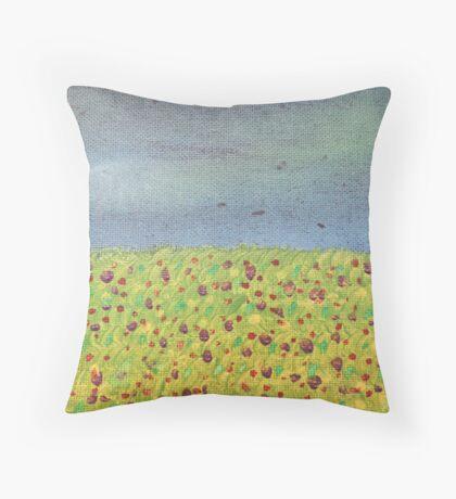 Meadow At Dusk Throw Pillow