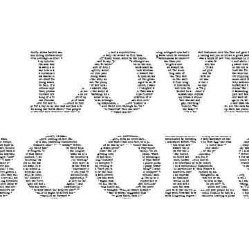 I Love Books Typography by cahunc