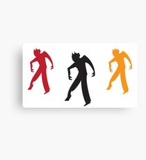 Three zombies dancing Canvas Print