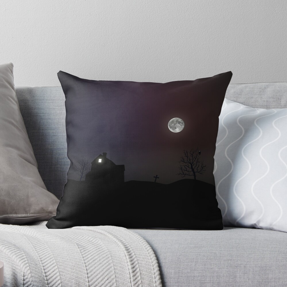 Haunted Hoods Throw Pillow