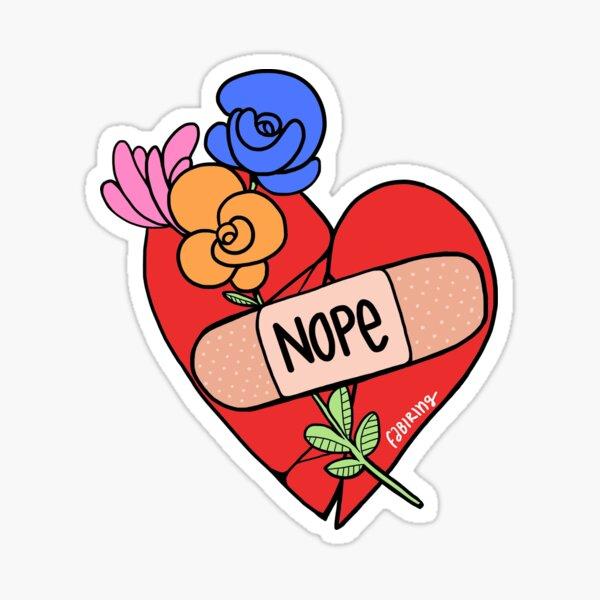 Mi corazón dice Nope Pegatina