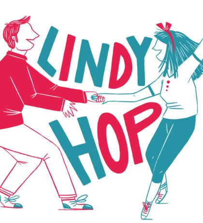 Lindy hop - Swing out  Sticker