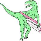 Keytar Dino by wolfmaskart