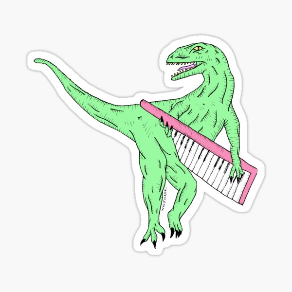 Keytar Dino Sticker