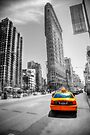 Flatiron New York & Yellow Taxi by Paul Thompson Photography