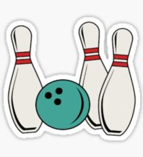 Bowling Pins and Ball Graphic Sticker
