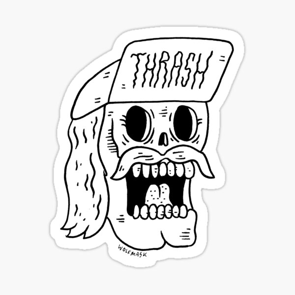 Thrashtache! Sticker