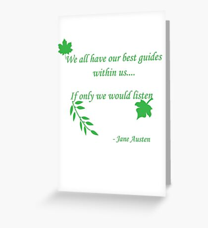 Best Guide Within Us Greeting Card