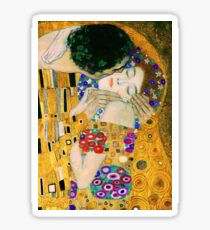 The Kiss by Gustav Klimt Sticker