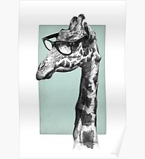 Short-Sighted Giraffe Poster
