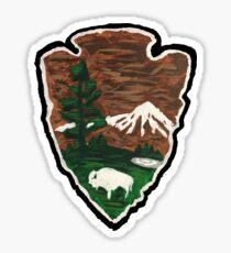 National Parks Painting Sticker