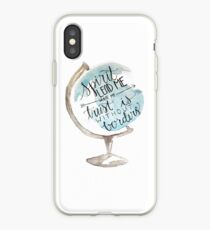 Christian quote, Hillsong, Globe iPhone Case