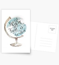 Christian quote, Hillsong, Globe Postcards